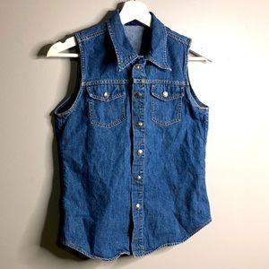 Cute Denim Vintage Style Ralph Lauren Button Down